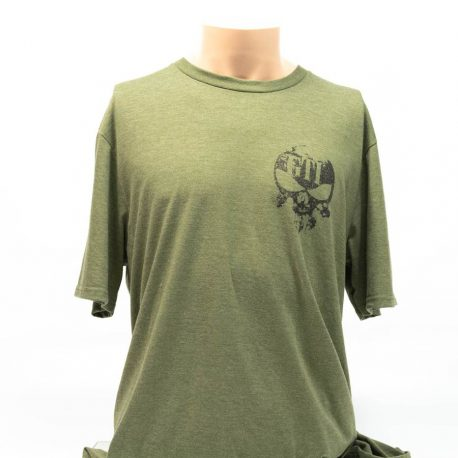 T Shirt Military Green GTI Skull Broadaxe Front