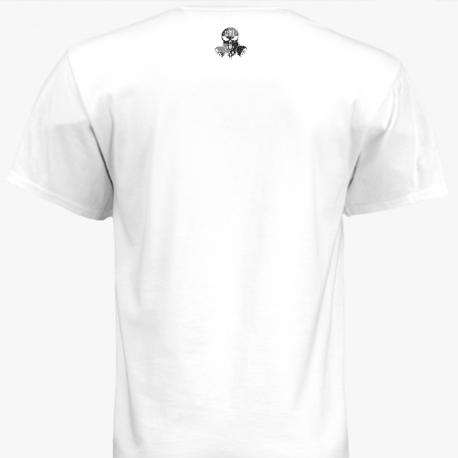 T Shirt White GTI CBRNE Logo GTISkull Logo Back