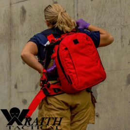 C.A.R.R. Pack Gen 2+ Red With Bungee Deployment Straps And Large Utility Bag