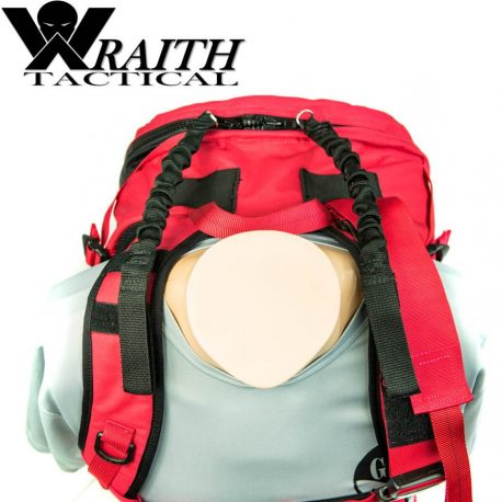 Wraith Tactical CARR Pack Gen 2 Red With Bungee Straps 1