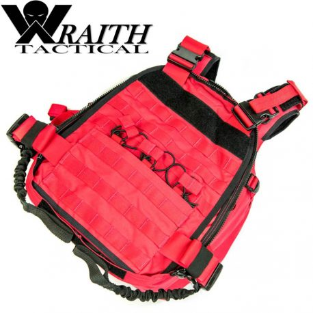 Wraith Tactical CARR Pack Gen 2 Red With Bungee Straps 2
