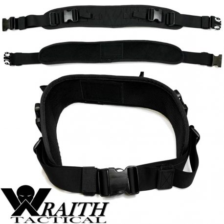 Wraith Tactical CARR Pack Hip Belt Black