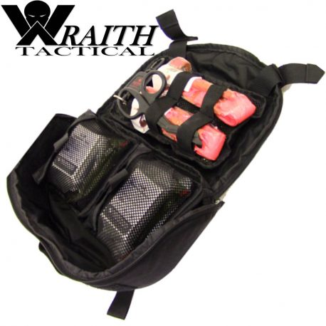 Wraith Tactical CARR Pack Medical Bag Small Black Filled