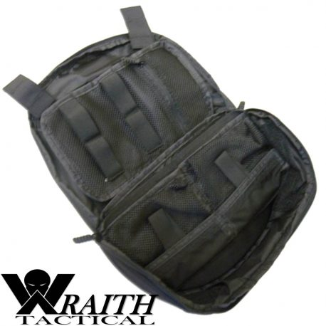 Wraith Tactical CARR Pack Medical Bag Small Black Open