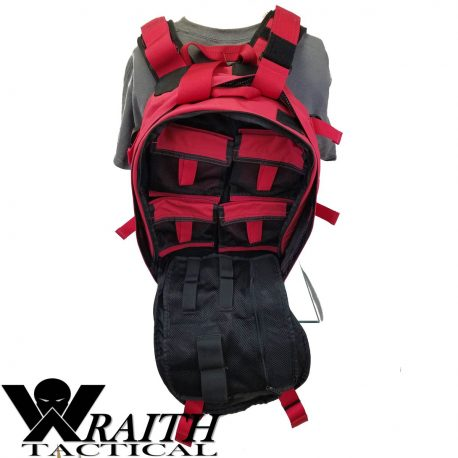 Wraith Tactical CARR Pack Red Back With Medical Bag Open 1