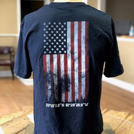 Navy Shirt GTI Corp Flag Back