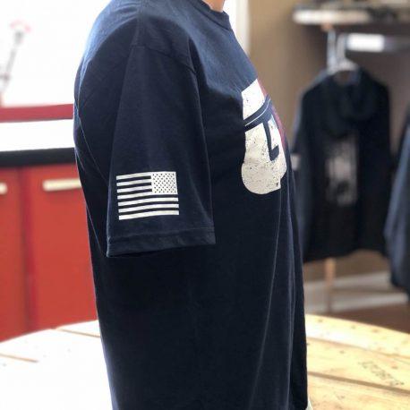Navy Shirt GTI Corp Flag Side