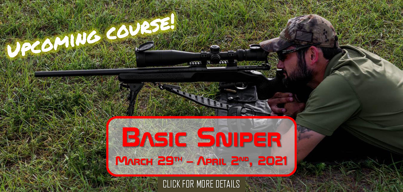 Basic Sniper Course March 29th - April 2nd, 2021