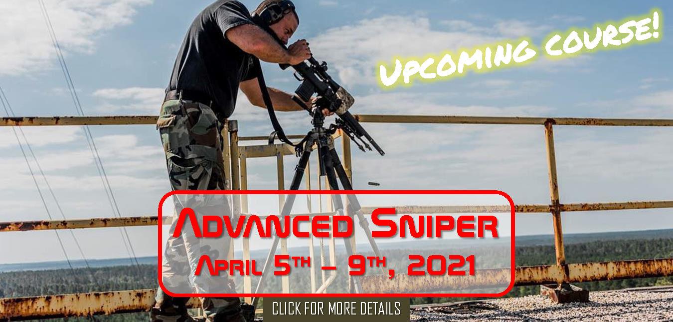 Advanced Sniper Course April 5th - 9th, 2021