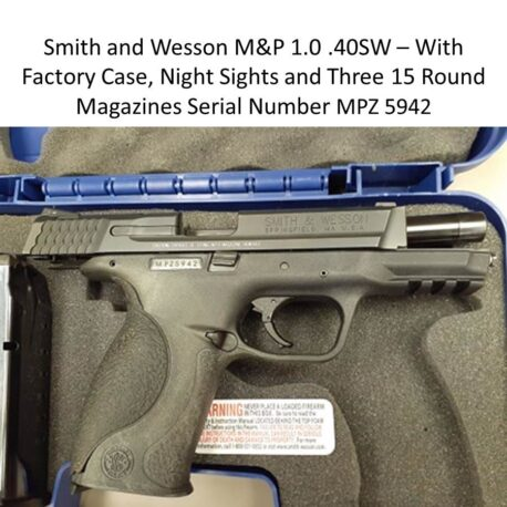 Smith and Wesson Pistol MPZ5942
