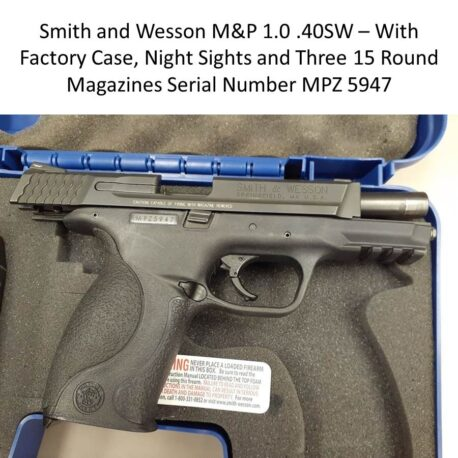 Smith and Wesson Pistol MPZ5947