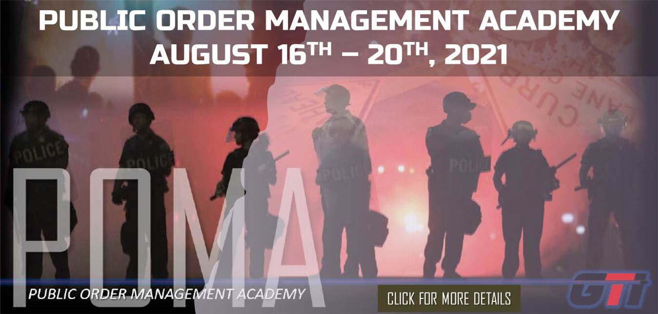 Public Order Management Academy August 16th 20th 2021